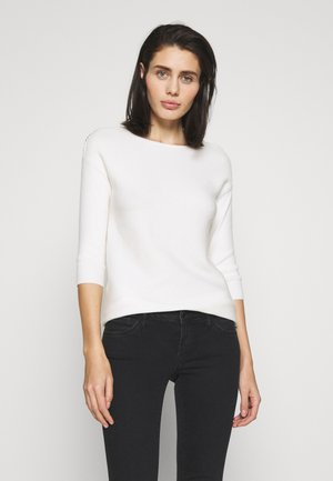 CHAIN SLEEVE PLAIN - Sweter - ivory