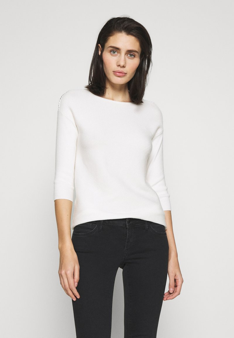 Dorothy Perkins - CHAIN SLEEVE PLAIN - Maglione - ivory