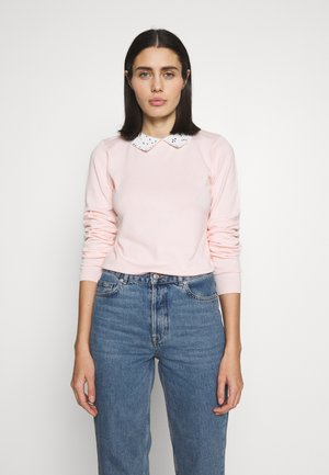 COLLAR JUMPER - Pullover - blush