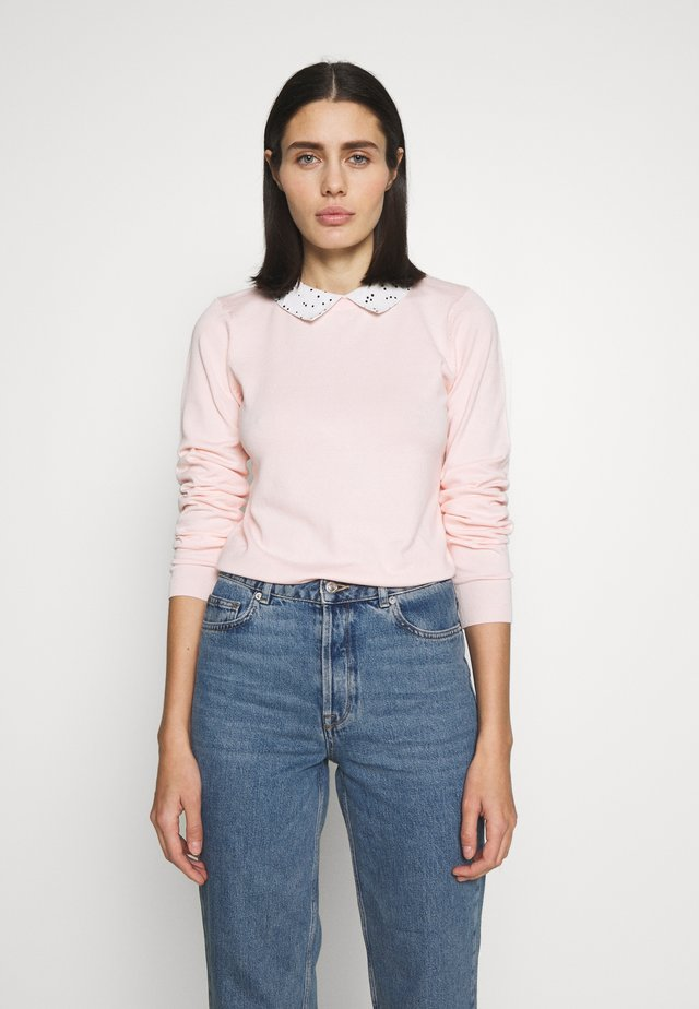 COLLAR JUMPER - Jersey de punto - blush