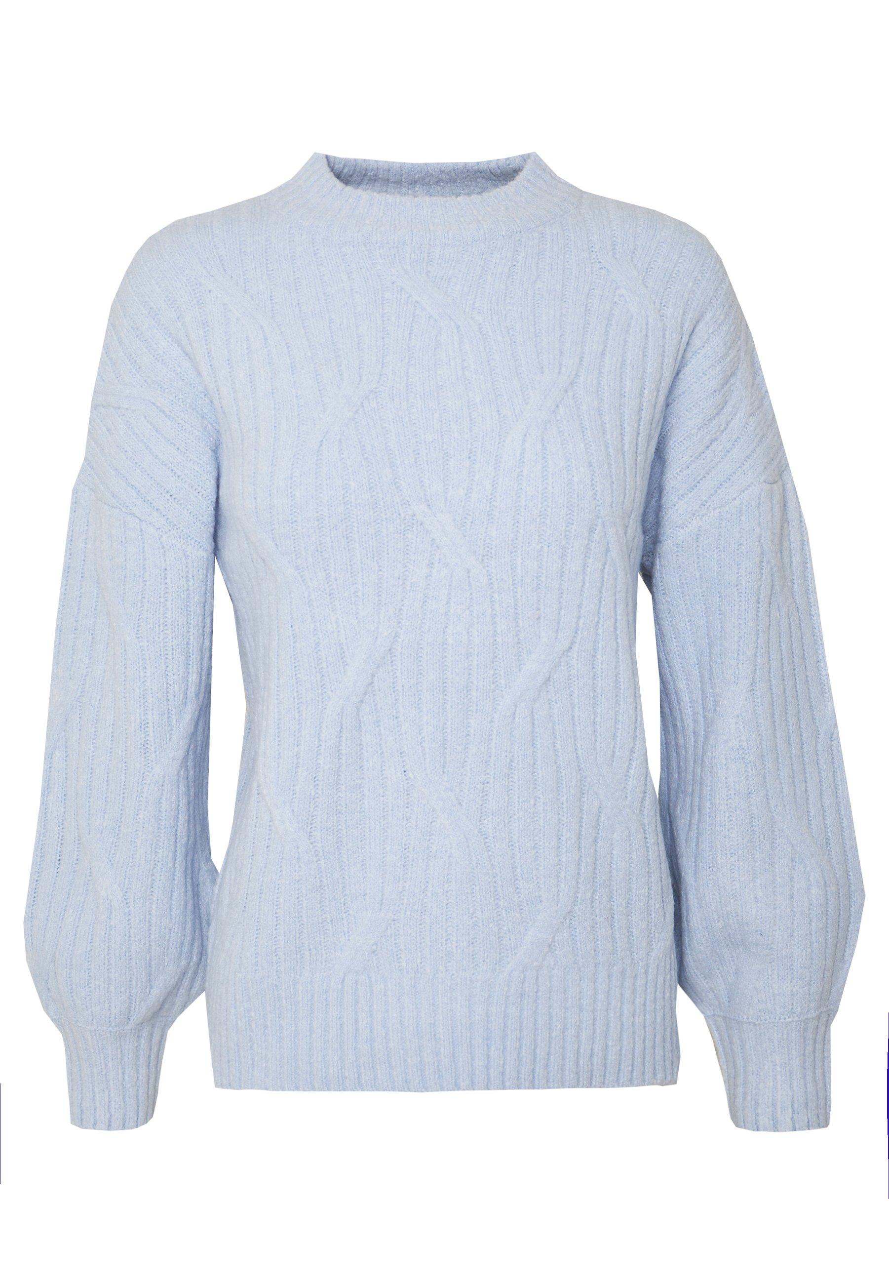 Dorothy Perkins SHORT SLEEVE JUMPER - T-shirts med print - pale blue