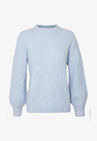 Dorothy Perkins - DIAGONAL DETAIL HIGH NECK JUMPER - Maglione - pale blue - 4
