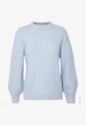 DIAGONAL DETAIL HIGH NECK JUMPER - Strikkegenser - pale blue