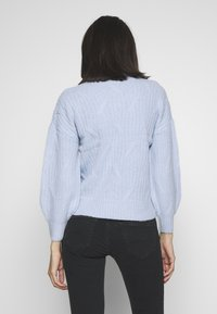 Dorothy Perkins - DIAGONAL DETAIL HIGH NECK JUMPER - Maglione - pale blue - 2