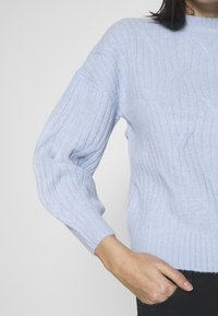 Dorothy Perkins - DIAGONAL DETAIL HIGH NECK JUMPER - Maglione - pale blue - 5