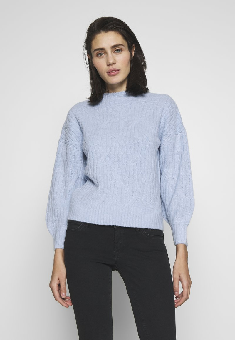 Dorothy Perkins - DIAGONAL DETAIL HIGH NECK JUMPER - Maglione - pale blue