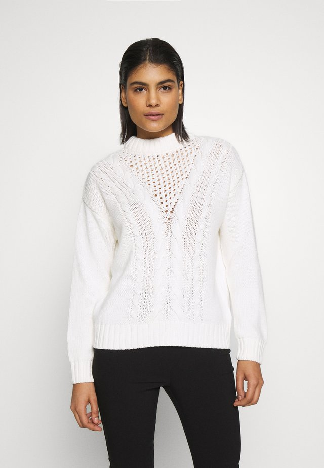 CABLE JUMPER - Neule - ivory