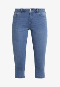 Dorothy Perkins - ENTRY CROPPED - Shorts vaqueros - light wash denim - 3