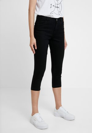 ENTRY CROPPED - Shorts di jeans - black
