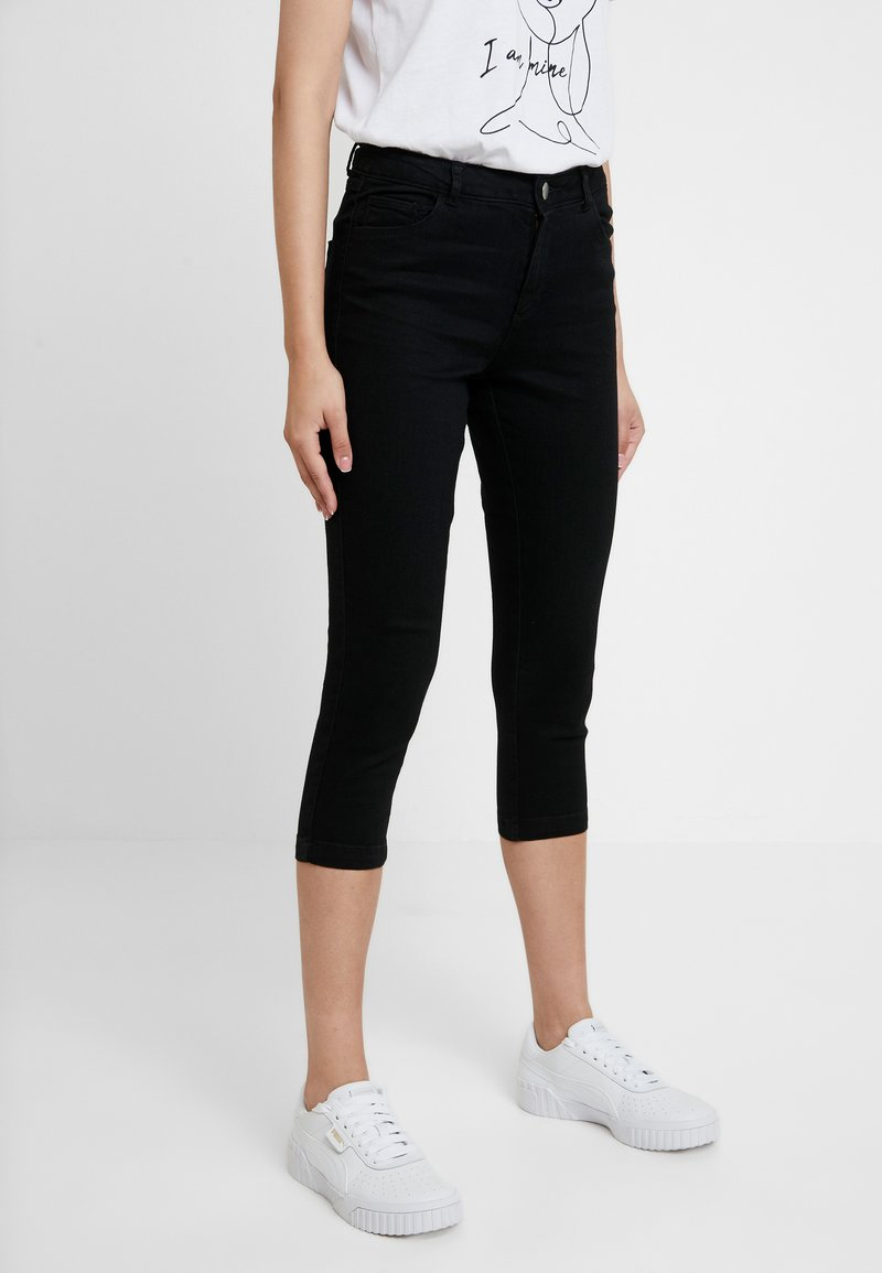 Dorothy Perkins - ENTRY CROPPED - Shorts vaqueros - black