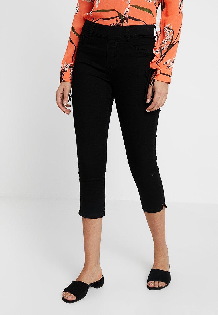 Dorothy Perkins - EDEN CROP - Denim shorts - black