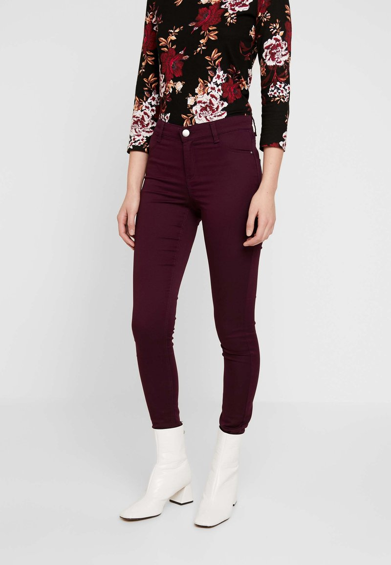 Dorothy Perkins - FRANKIE - Trousers - berry