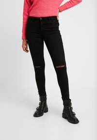 Dorothy Perkins - RIPPED DARCY - Jeans Skinny Fit - black - 0