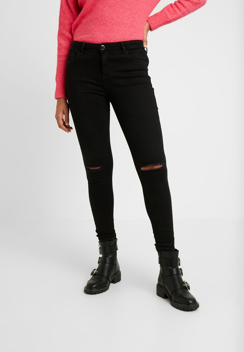 Dorothy Perkins - RIPPED DARCY - Jeans Skinny Fit - black