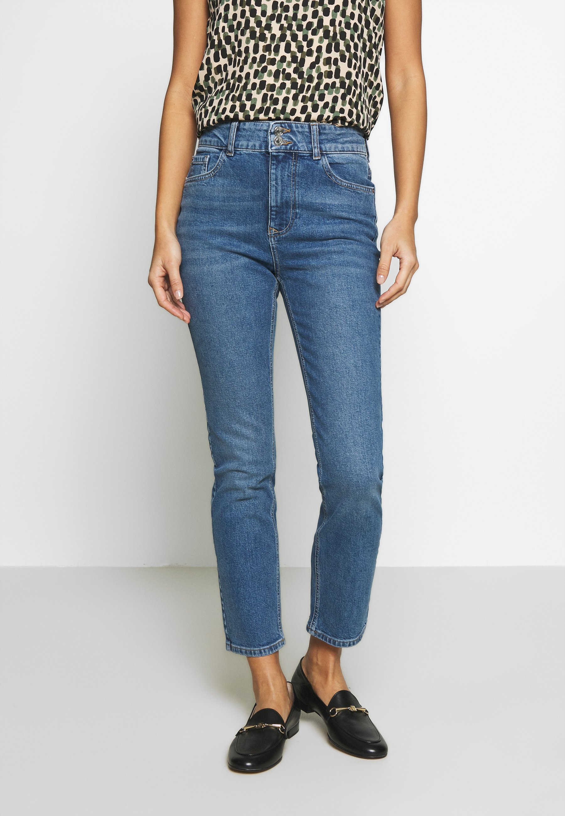 Dorothy Perkins Jeansy Slim Fit - midwash