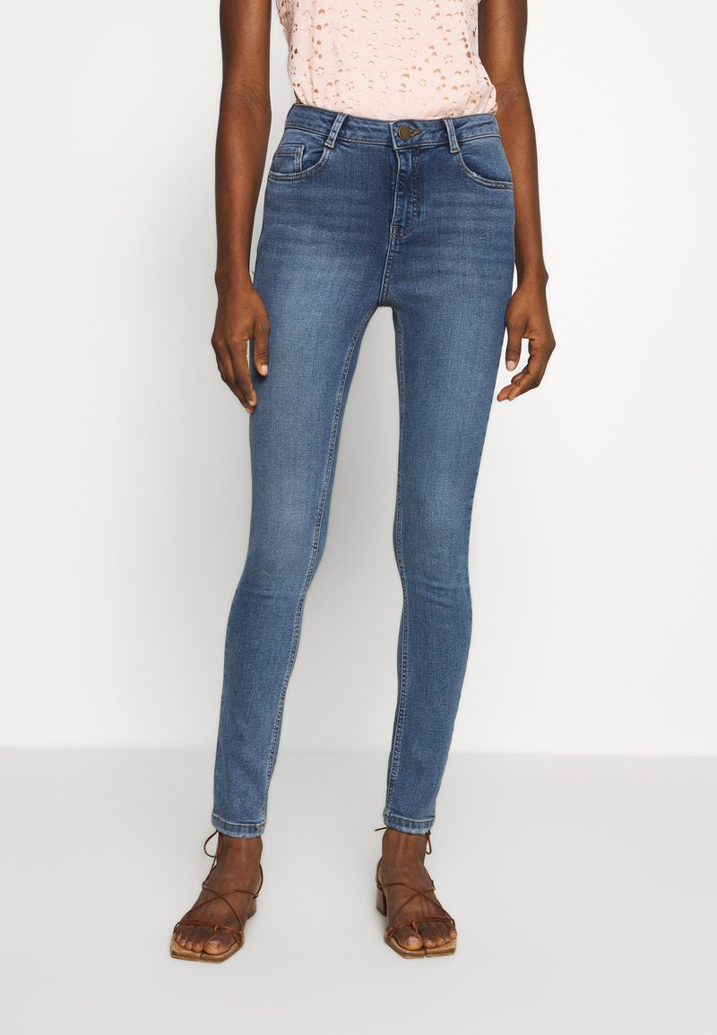 Dorothy Perkins - SHAPE AND LIFT - Jeansy Skinny Fit - midwash