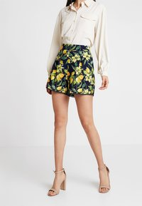 Dorothy Perkins - LEMON POM POM  - Shorts - dark blue - 0