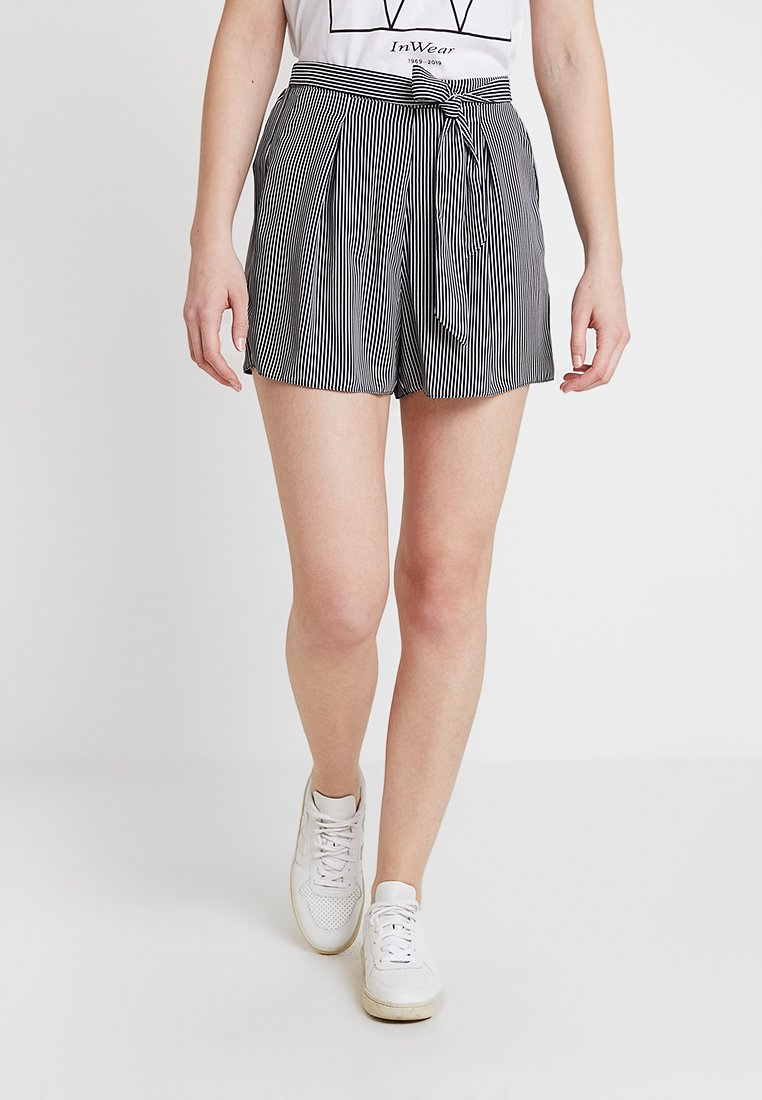 Dorothy Perkins - TIE UP - Shorts - navy/white