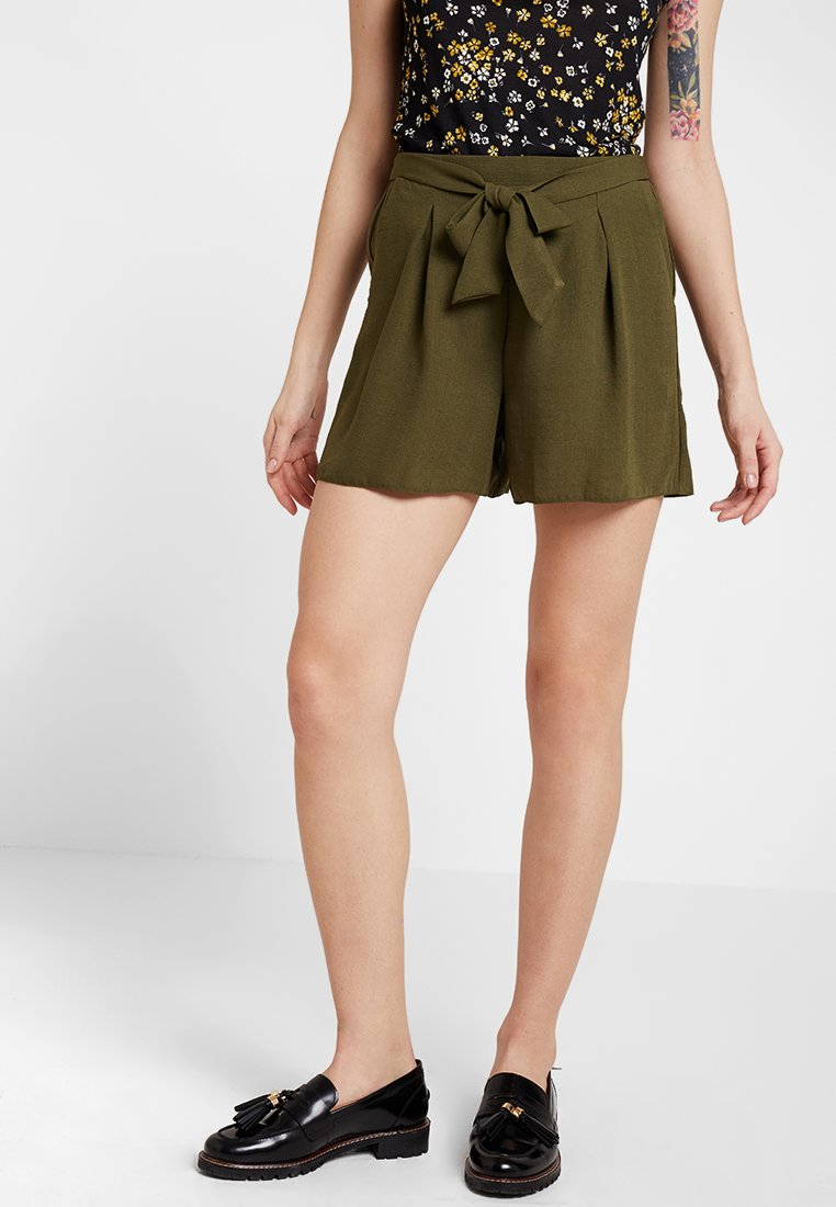 Dorothy Perkins - TIE UP - Shorts - khaki