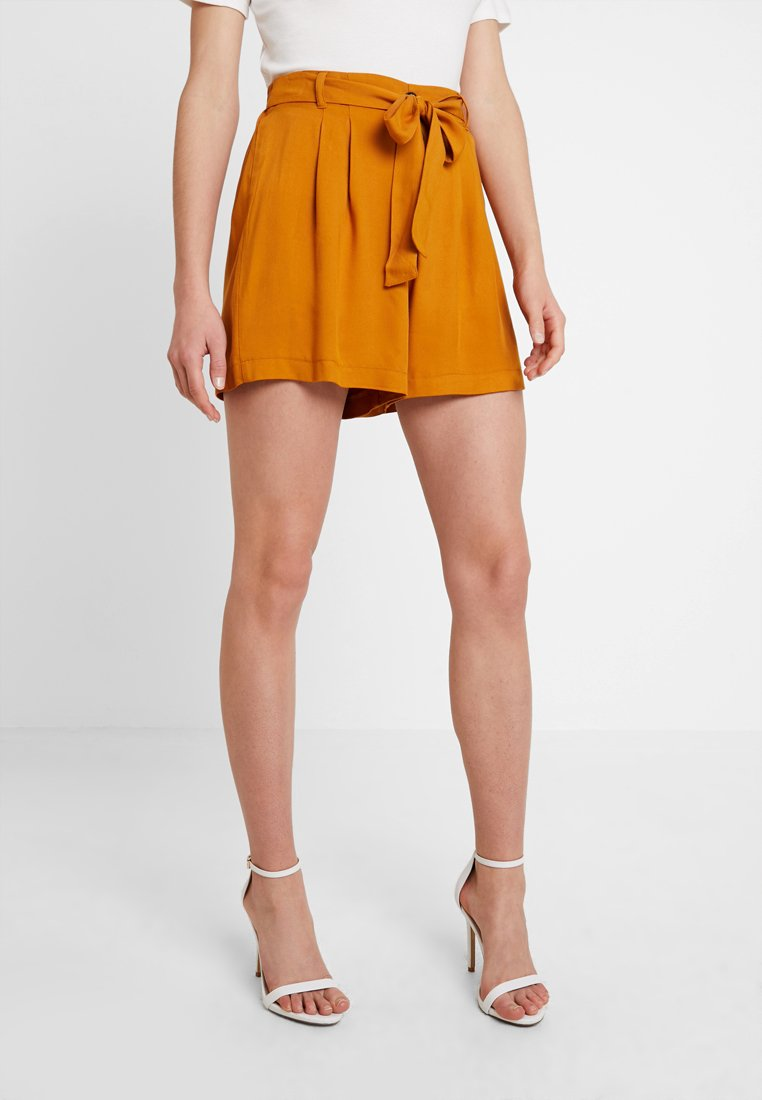 Dorothy Perkins - BUTTON FRONT - Shorts - mustard
