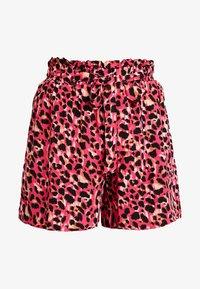 Dorothy Perkins - ANIMAL TAB DETAIL - Shorts - hot pink - 5