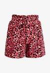 Dorothy Perkins - ANIMAL TAB DETAIL - Shorts - hot pink