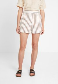 Dorothy Perkins - STRIPE - Shorts - taupe/beige - 0