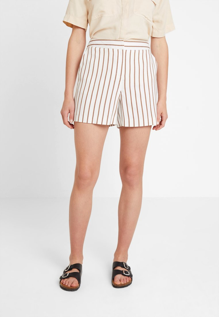 Dorothy Perkins - STRIPE - Shorts - taupe/beige