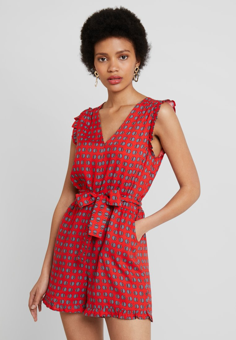 Dorothy Perkins - RUFFLE - Jumpsuit - red