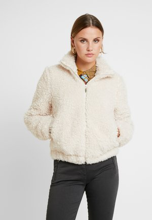 SHORT TEDDY COAT - Winter jacket - cream