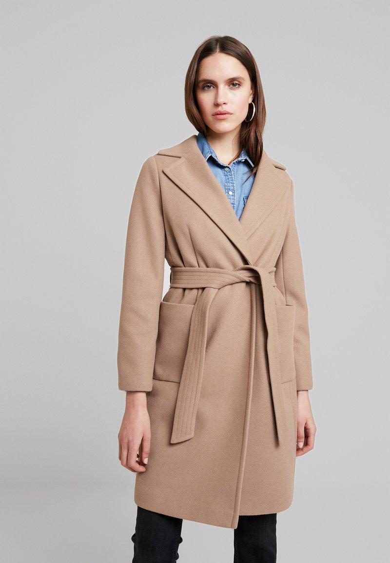 Dorothy Perkins - PATCH POCKET WRAP - Classic coat - camel