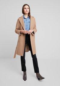 Dorothy Perkins - PATCH POCKET WRAP - Classic coat - camel - 1