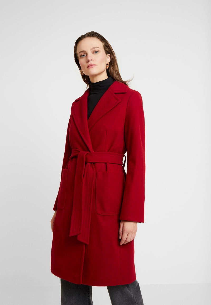 Dorothy Perkins - PATCH POCKET WRAP - Classic coat - red