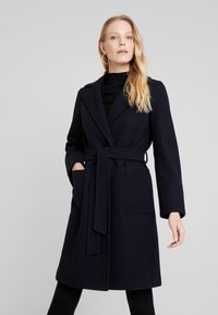 Dorothy Perkins - PATCH POCKET WRAP - Cappotto classico - navy blue - 0