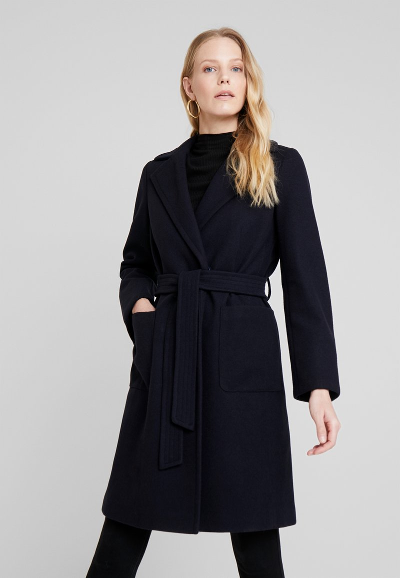 Dorothy Perkins - PATCH POCKET WRAP - Cappotto classico - navy blue