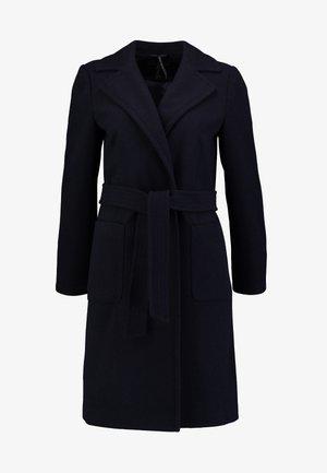 PATCH POCKET WRAP - Manteau classique - navy blue