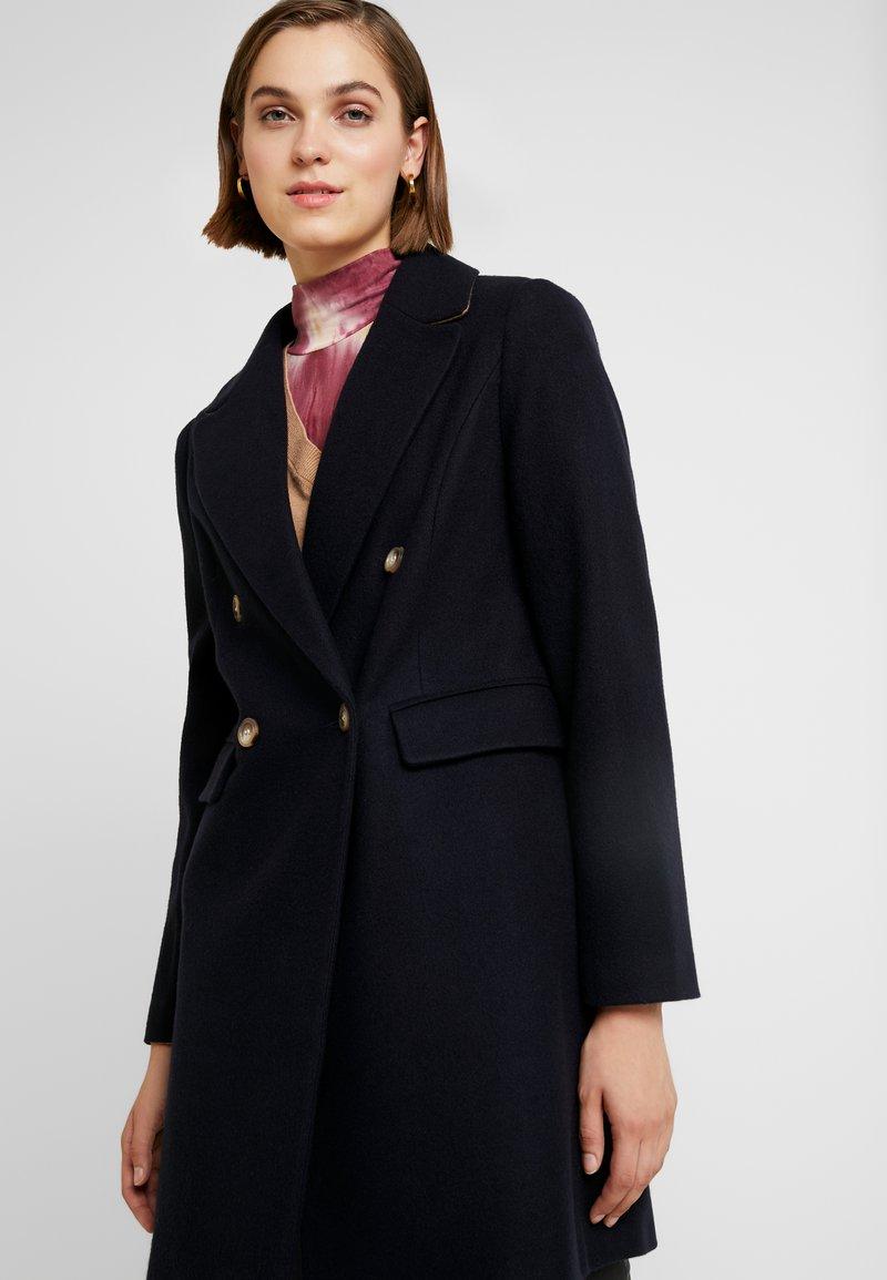 Dorothy Perkins - DOUBLE - Płaszcz wełniany /Płaszcz klasyczny - navy blue