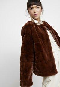 Dorothy Perkins - ANIMAL EDGE TO EDGE - Vinterjakke - brown - 3
