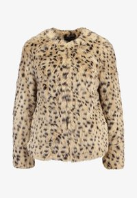 Dorothy Perkins - ANIMAL EDGE TO EDGE - Vinterjacka - beige