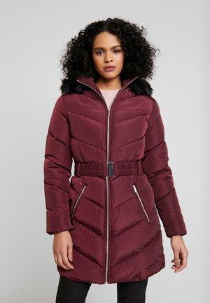LONG LUXE - Płaszcz zimowy - burgundy