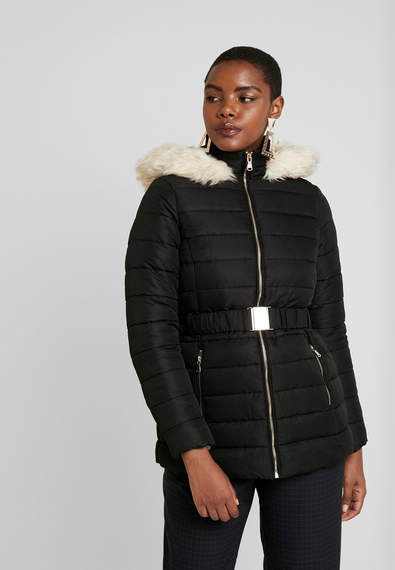 Dorothy Perkins - SHORT LUXE PADDED JACKET - Light jacket - black