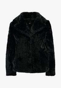 Dorothy Perkins - SHORT PLUSH COLLAR REVERE - Light jacket - black - 4