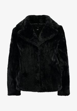 SHORT PLUSH COLLAR REVERE - Light jacket - black
