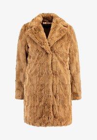 Dorothy Perkins - LONG LINE SQUIGGLE  - Zimní kabát - caramel - 4