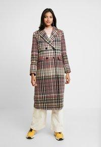 Dorothy Perkins - MIDI DOUBLE BREASTED - Classic coat - multi-coloured - 0