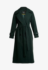 Dorothy Perkins - DOUBLE BELTED BELTED WRAP - Manteau classique - green