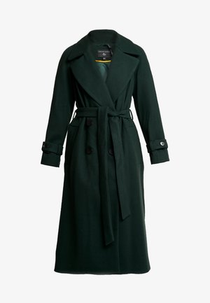 DOUBLE BELTED BELTED WRAP - Classic coat - green