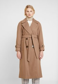 Dorothy Perkins - DOUBLE BREASTED BELTED WRAP - Trenchcoat - mushroom - 0
