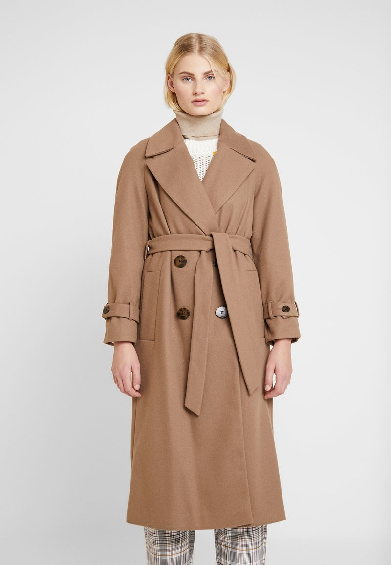 Dorothy Perkins - DOUBLE BREASTED BELTED WRAP - Trenchcoat - mushroom