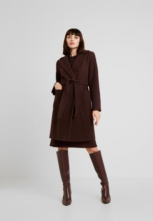PATCH POCKET WRAP - Cappotto classico - chocolate